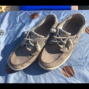 Rose gold/Grey Sperry's